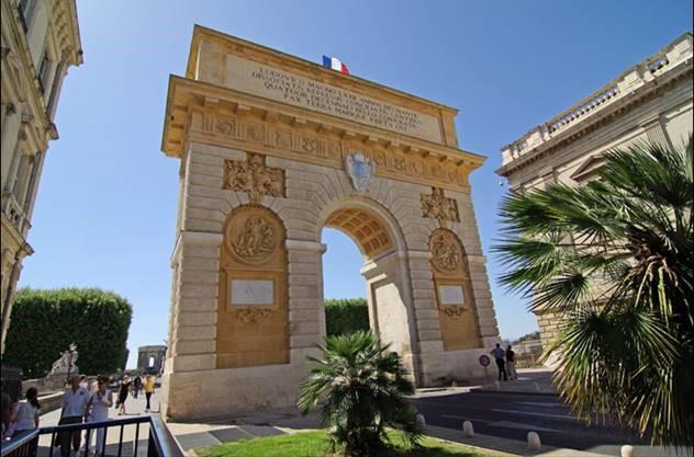Entrée du secteur Malraux de Montpellier