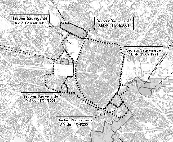 Le secteur sauvegardé de la ville de Montpellier