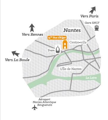 Situation géographique Nantes