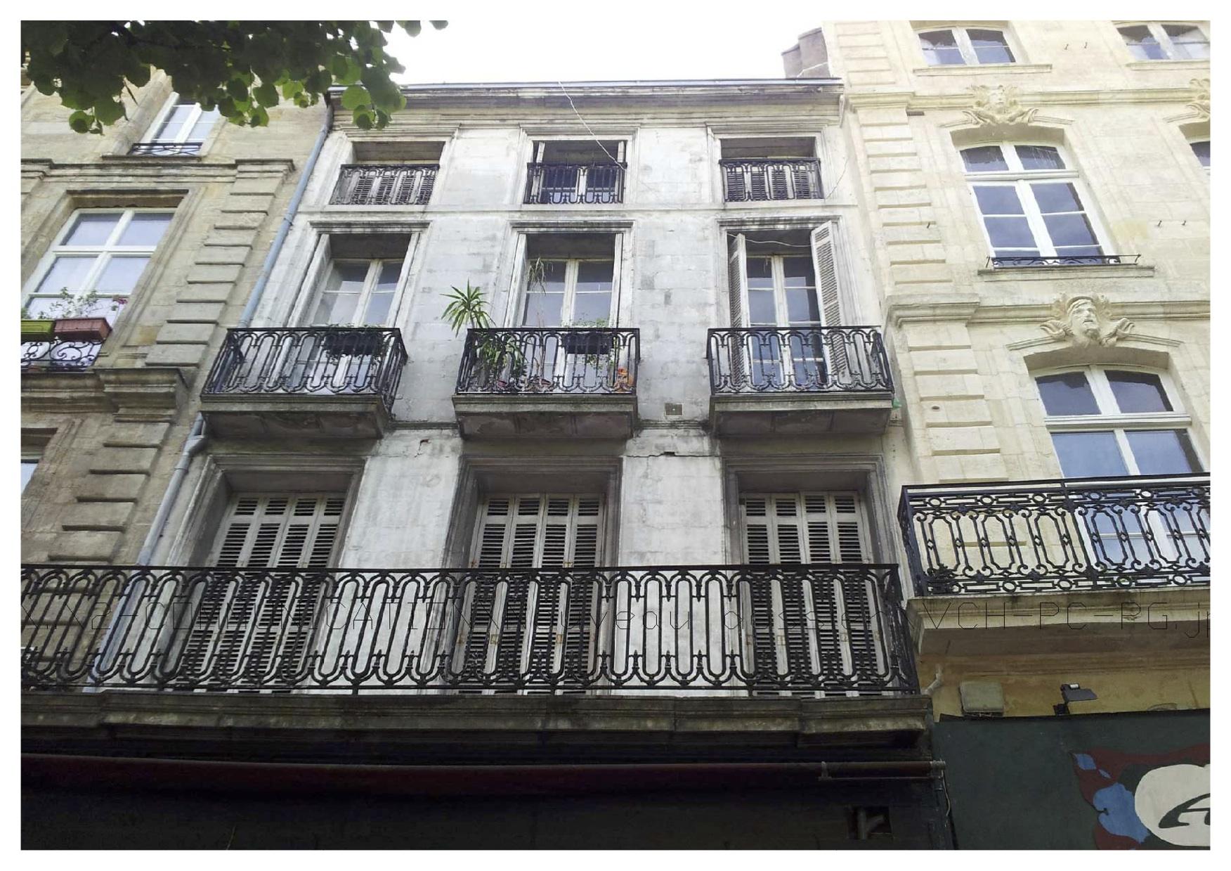 Facade Malraux Bordeaux cours Victor Hugo