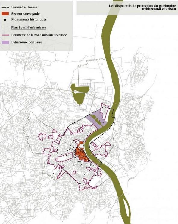 Plan du patrimoine de Bordeaux