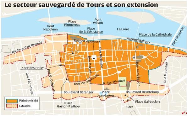 plan secteur sauvegardé Tours