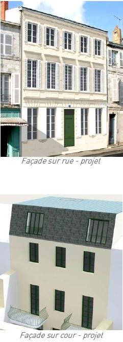 Vue façade programme La Rochelle