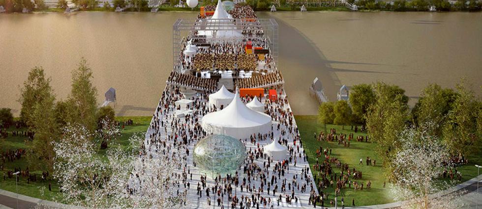Futur pont Simone Veil à Bordeaux