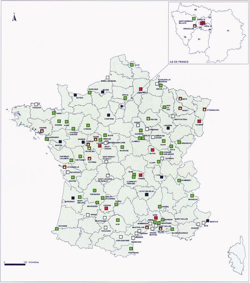 Les secteurs sauvegardés en France